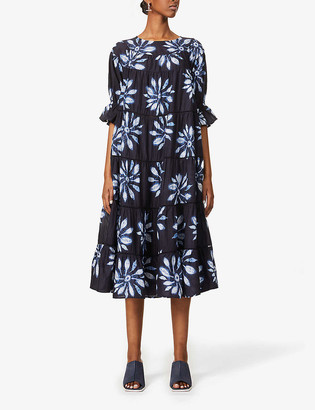 Merlette New York Paradis Shibori organic cotton midi dress