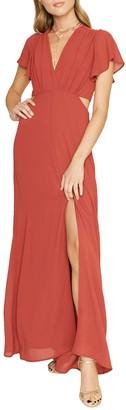 Dee Elly Side Cutout Maxi Dress