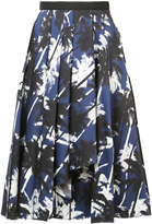 Jason Wu palm print midi skirt
