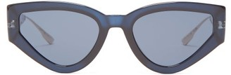 Christian Dior Catstyledior1 Cat-eye Acetate Sunglasses - Womens - Blue
