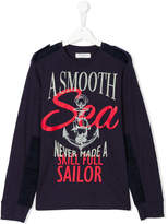 John Galliano Teen nautical print sweatshirt