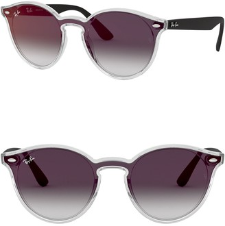 Ray-Ban Blaze 137mm Wayfarer Mirrored Shield Sunglasses