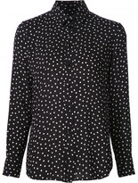 Saint Laurent polka dot shirt