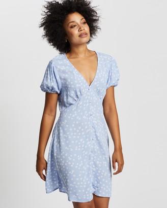 Cotton On Women's Blue Mini Dresses - Woven Essential Button Front Mini Dress - Size XXS at The Iconic