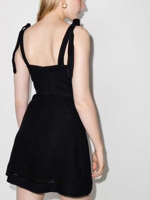 HONORINE Black Kiki Linen Mini Dress