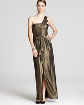 One Shoulder Gown - Barbara Metallic