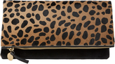 Clare Vivier Leopard Haircalf Clutch