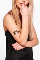 Boohoo Lauren Swirl Curved Arm Cuff