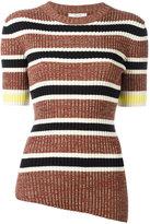 Celine asymmetric ribbed knit top