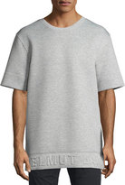 Helmut Lang 3D Logo Neoprene T-Shirt, Light Heather Gray