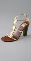 Metallic Ginger T Strap Sandal