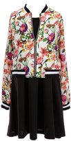 Xtraordinary Big Girls 7-16 Two-Piece Floral Bomber Jacket & Dress Set