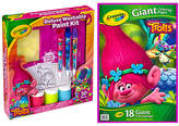 Crayola Trolls Paint Kit & Giant Coloring Pages Set