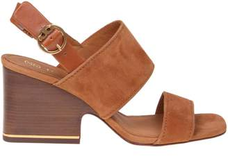 Tory Burch Selby Sandal In Leather Color Suede