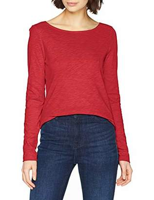 Marc O'Polo Women's 901226152199 Long Sleeve Top, (Mulberry Red 671), 8 (Size: X-Small)