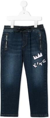 Dolce & Gabbana King patch jeans