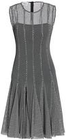 Akris Punto Monochrome Mesh Dress