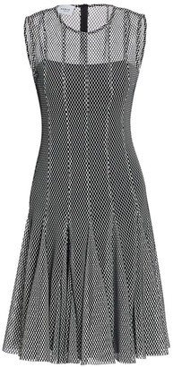 Akris Punto Monochrome Mesh Dress