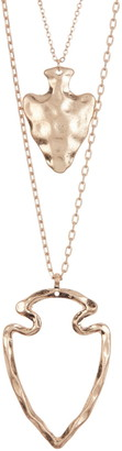 Area Stars Gold-Tone Hammered Arrow Pendant Layered Necklace