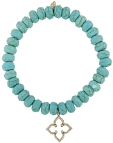 Sydney Evan Moroccan Star Charm On Turquoise Magnesite Beaded Bracelet