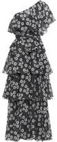 Lisa Marie Fernandez Arden One-shoulder Tiered Floral-print Cotton-voile Maxi Dress