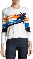 Rag & Bone Nicki Graphic Pullover Sweater, White