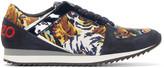 Kenzo Navy Flying Tiger Print Sneakers