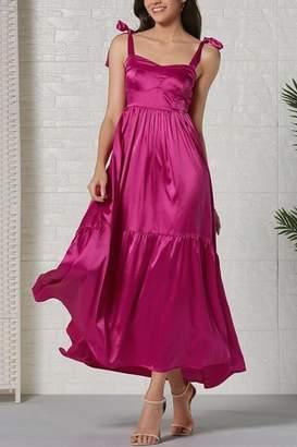 La Ros Magenta Maxi Dress