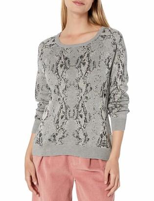 Monrow Women's Snake Raglan Sweater