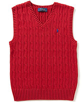 Ralph Lauren Big Boys 8-20 Cable-Knit Vest