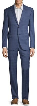 Corneliani Classic-Fit Plaid Wool Suit
