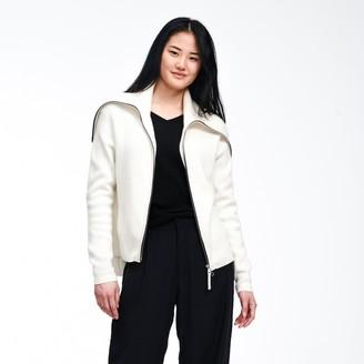 Naadam Luxe Cashmere Ribbed Zip Up Jacket