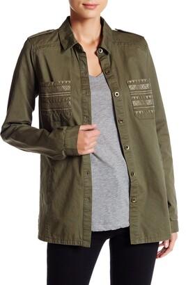 Blu Pepper Contrast Back Oversize Button-Down Shirt