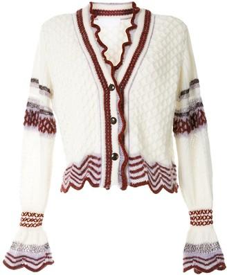 Textured Wool Knit Cardigan