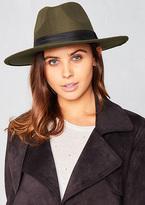 Missy Empire Cydney Green Fedora Hat