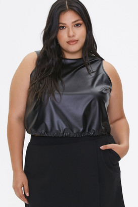 Forever 21 Plus Size Faux Leather Crop Top