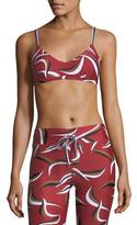 The Upside Wild Things Zoe Printed Performance Crop Top