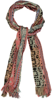 Etro Multi-motif striped jacquard scarf