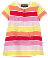 Toobydoo Sun Stripe Kangaroo Pocket Dress (Baby, Toddler, & Little Girls)