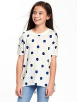 Old Navy Graphic-Patch Jersey Hi-Lo Tunic for Girls