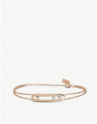 Messika Move 18ct rose-gold and diamond bracelet