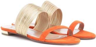 Aquazzura Rendez Vous Flat suede sandals