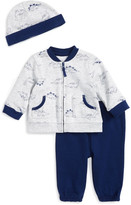 Little Me Dino Sweatshirt & Hat Set (Baby Boys)