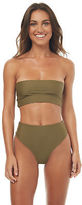 Reverse New Women's Paris Bandeau Bikini Set Polyester Green