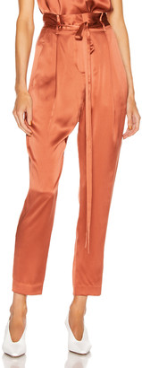 Mason by Michelle Mason Paperbag Cropped Trouser in Dune   FWRD