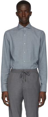 Ermenegildo Zegna Green and Grey Check Shirt