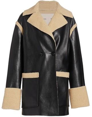 Proenza Schouler White Label Reversible Faux Sherpa Coat