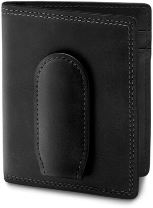 Bosca Deluxe Leather Front Pocket Wallet