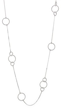 Bloomingdale's Sterling Silver Twisted Circles Station Necklace, 36 - 100% Exclusive