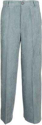 Forte Forte Ribbed Fluid Velvet Cropped Pants